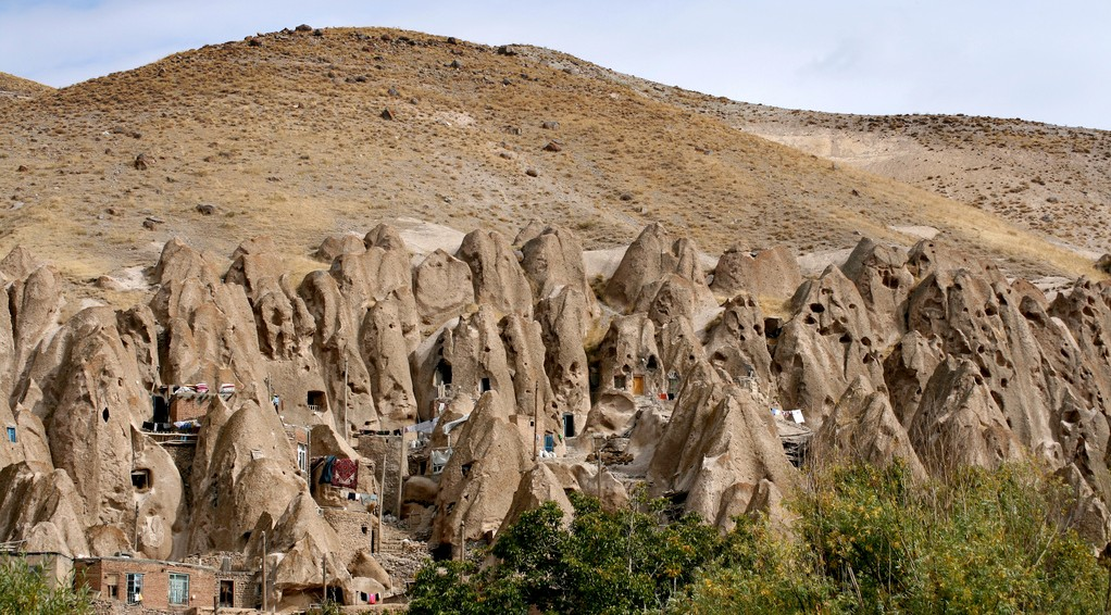 Amazing Cave City in Iran Carved from Volcanic Rock